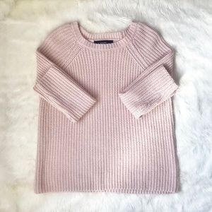 Forever 21 Blush Pink Chunky Knit Sweater